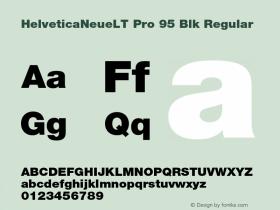 HelveticaNeueLT Pro 95 Blk Regular Version 1.000;PS 001.000;Core 1.0.38图片样张