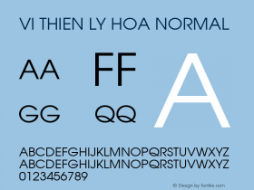 VI Thien Ly Hoa Normal 1.0 Tue Jan 11 11:22:39 1994 Font Sample