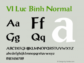 VI Luc Binh Normal 1.0 Tue Jan 11 10:48:52 1994 Font Sample