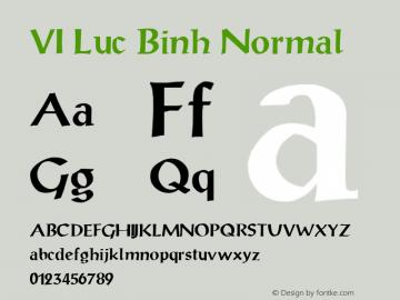 VI Luc Binh Normal 1.0 Tue Jan 11 10:48:52 1994 Font Sample