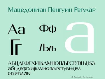 Macedonian Penguin Font,MacedonianPenguin Font|Macedonian