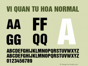 VI Quan Tu Hoa Normal 1.0 Tue Jan 11 11:10:43 1994 Font Sample