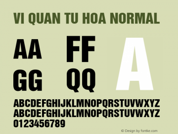 VI Quan Tu Hoa Normal 1.0 Tue Jan 11 11:10:43 1994 Font Sample