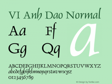 VI Anh Dao Normal 1.0 Tue Jan 18 14:35:54 1994 Font Sample