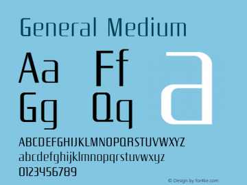 General Medium Version 001.000 Font Sample