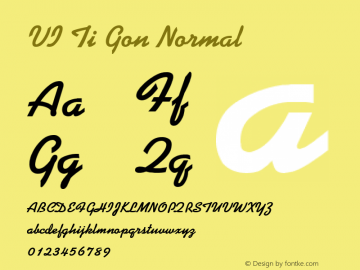VI Ti Gon Normal 1.0 Tue Jan 11 11:38:02 1994 Font Sample