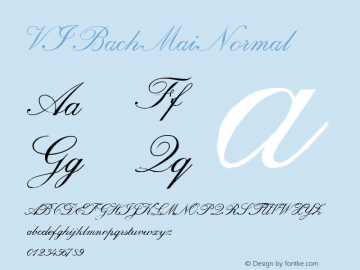 VI Bach Mai Normal 1.0 Tue Jan 11 09:08:27 1994 Font Sample