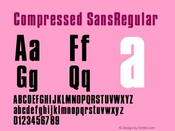 Compressed SansRegular Version 001.000图片样张