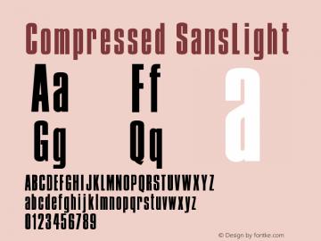 Compressed SansLight Version 001.000图片样张