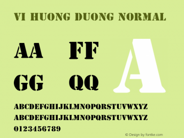 VI Huong Duong Normal 1.0 Fri Jan 14 14:59:49 1994 Font Sample