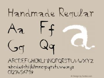 Handmade Regular Macromedia Fontographer 4.1.5 20/03/01 Font Sample