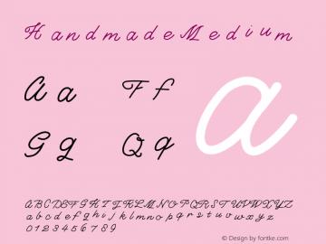 Handmade Medium Version 001.000 Font Sample