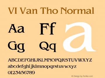 VI Van Tho Normal 1.0 Fri Jan 14 15:03:39 1994 Font Sample