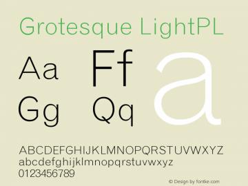 Grotesque LightPL Version 001.000图片样张
