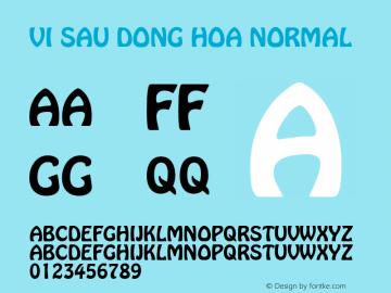 VI Sau Dong Hoa Normal 1.0 Tue Jan 11 11:17:33 1994 Font Sample