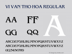 VI Van Tho Hoa Regular 10.10.93 Font Sample