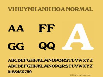 VI Huynh Anh Hoa Normal 1.0 Tue Jan 11 10:20:09 1994 Font Sample