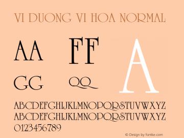 VI Duong Vi Hoa Normal 1.0 Tue Jan 11 10:13:35 1994 Font Sample