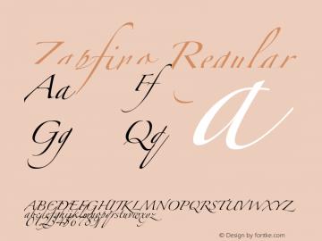 Zapfino Regular Unknown Font Sample
