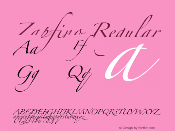 Zapfino Regular Unknown Font Sample