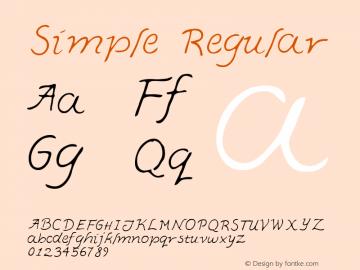 Simple Regular Macromedia Fontographer 4.1 5/30/96 Font Sample