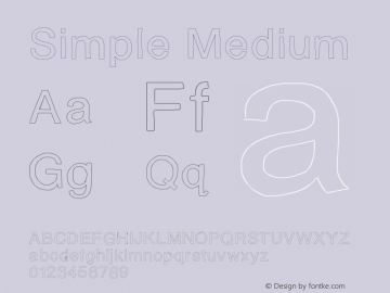 Simple Medium Version 001.000 Font Sample