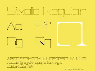 Simple Regular 1.000 Font Sample