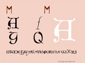 Motley Medium Version 001.000 Font Sample