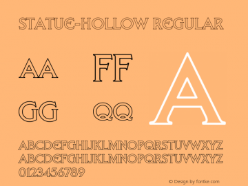 Statue-Hollow Regular Unknown Font Sample