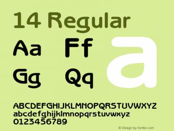 14 Regular Unknown Font Sample