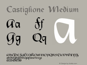 Castiglione Medium Version 001.000 Font Sample