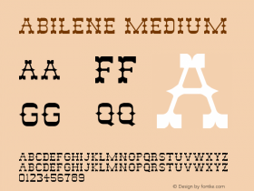 Abilene Medium Unknown Font Sample