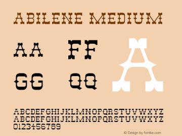 Abilene Medium Unknown Font Sample