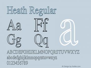 Heath Regular Unknown Font Sample