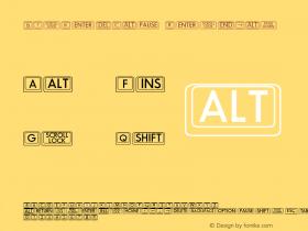 BigKeyCap Regular Unknown Font Sample