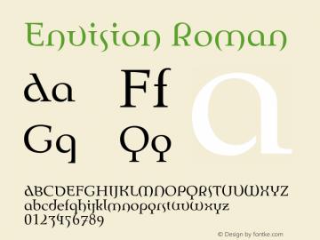 Envision Roman 001.000 Font Sample