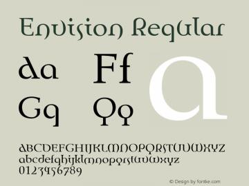 Envision Regular Version 1.00 Font Sample