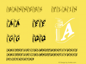 Banners Plain Unknown Font Sample