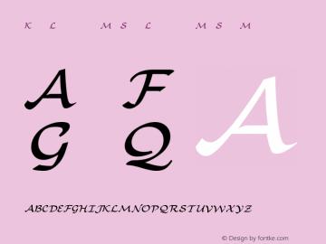 Kp-Light-M-Sy Light-M-Sy-Medium Version 001.000 Font Sample