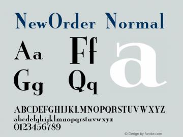 NewOrder Normal 1.0 Wed Nov 18 11:06:15 1992 Font Sample