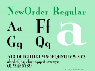 NewOrder Regular v1.0c Font Sample