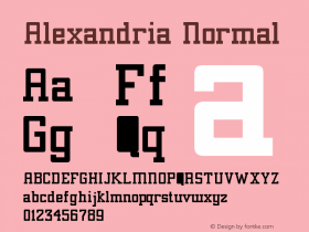 Alexandria Normal Version 001.001 Font Sample