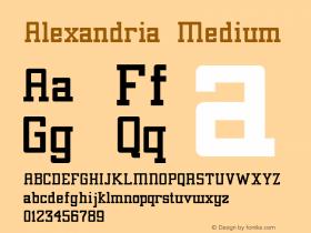 Alexandria Medium 001.001 Font Sample