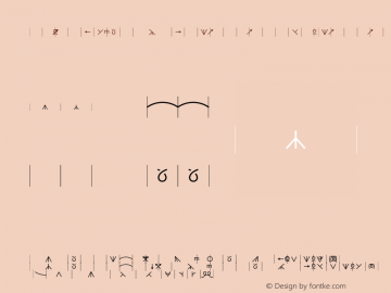KnittingSymbols-wide-incount wide-incount-Medium Version 001.000 Font Sample