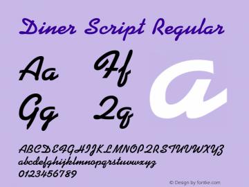 Diner Script Regular Rev. 002.02q Font Sample
