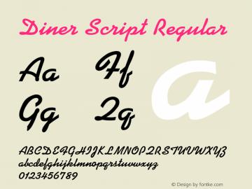 Diner Script Regular Rev. 002.001 Font Sample