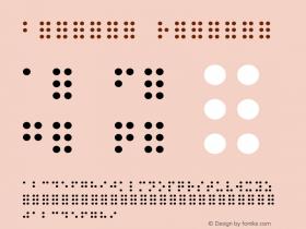 Braille Regular Unknown Font Sample