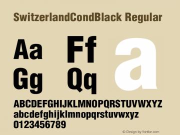 SwitzerlandCondBlack Regular v1.0c图片样张