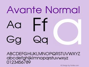Avante Normal 1.0 Wed May 26 10:54:08 1993 Font Sample