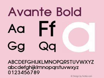 Avante Bold Altsys Fontographer 3.3  8-01-92 Font Sample